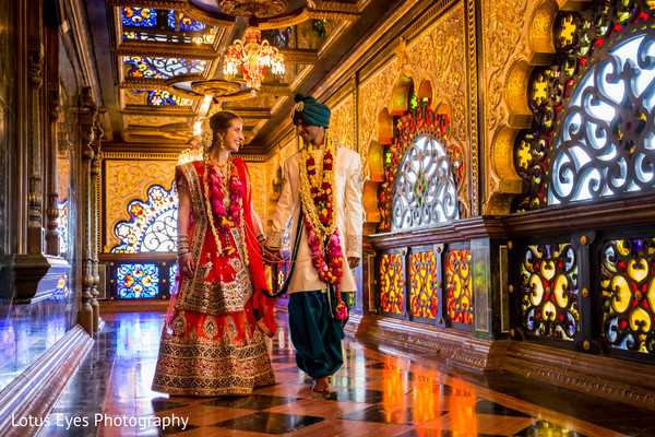 Wedding Portrait in New Vrindaban, WV Indian Wedding by Lotus Eyes Photography