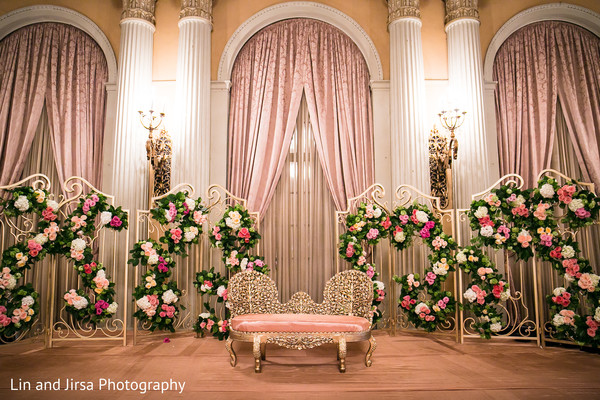 indian wedding reception,reception,reception decor,sweetheart stage,floral and decor