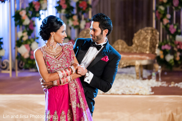 Reception in Yuba City, CA Indian Wedding by Lin & Jirsa Photography