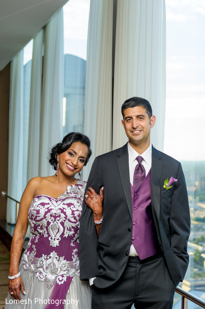 Reception Portraits in Dallas, TX Indian Wedding by Lomesh Photography