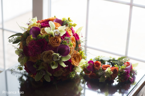 Bridal Bouquet in Long Island, NY Indian Fusion Wedding by Priyanca Rao Photography