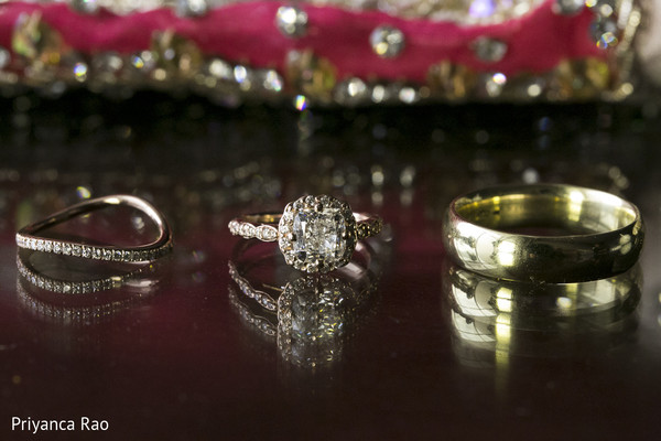 Rings in Long Island, NY Indian Fusion Wedding by Priyanca Rao Photography