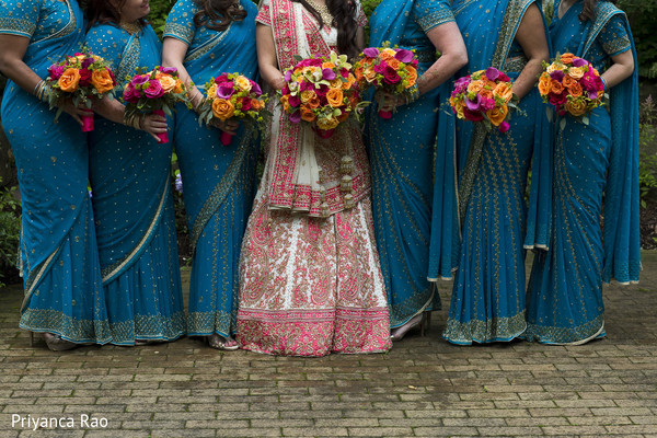 Bridal Party in Long Island, NY Indian Fusion Wedding by Priyanca Rao Photography