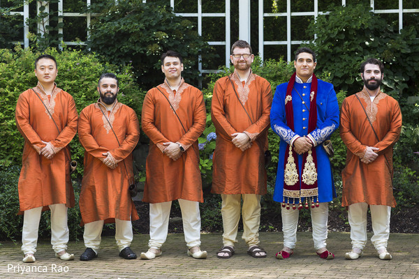 Groomsmen in Long Island, NY Indian Fusion Wedding by Priyanca Rao Photography