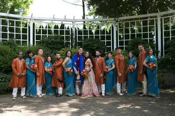 Wedding Party in Long Island, NY Indian Fusion Wedding by Priyanca Rao Photography