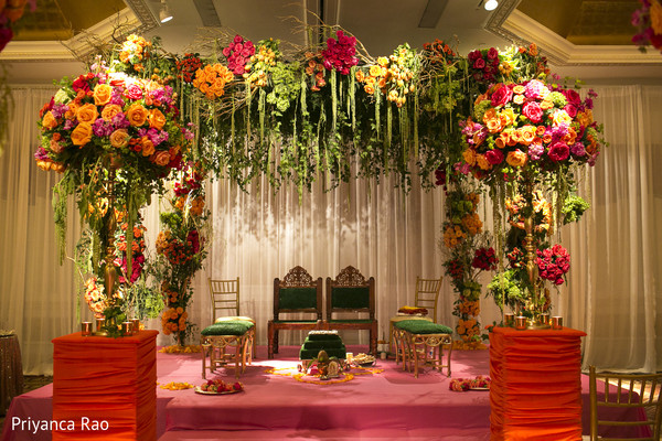 Ceremony Decor in Long Island, NY Indian Fusion Wedding by Priyanca Rao Photography