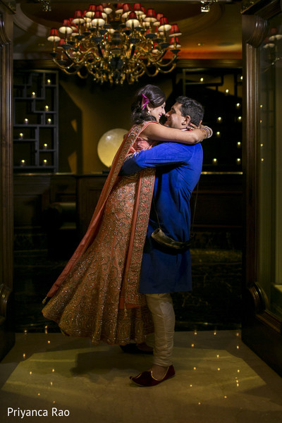 Reception Portrait in Long Island, NY Indian Fusion Wedding by Priyanca Rao Photography
