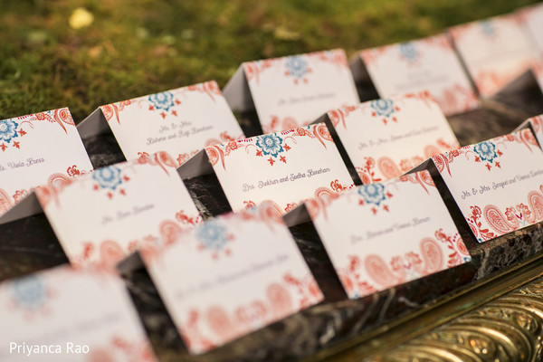 Name Cards in Long Island, NY Indian Fusion Wedding by Priyanca Rao Photography