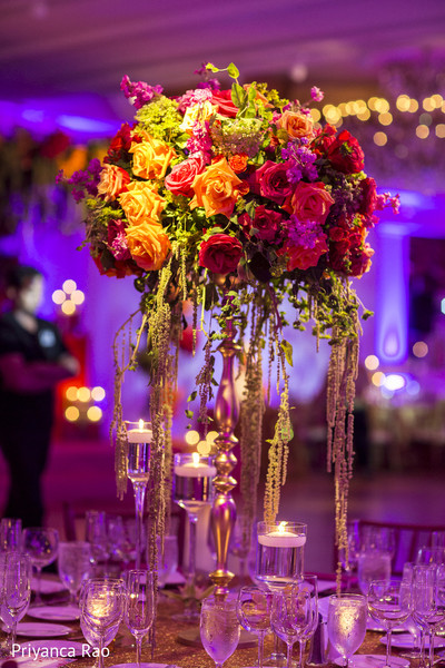 Centerpiece in Long Island, NY Indian Fusion Wedding by Priyanca Rao Photography