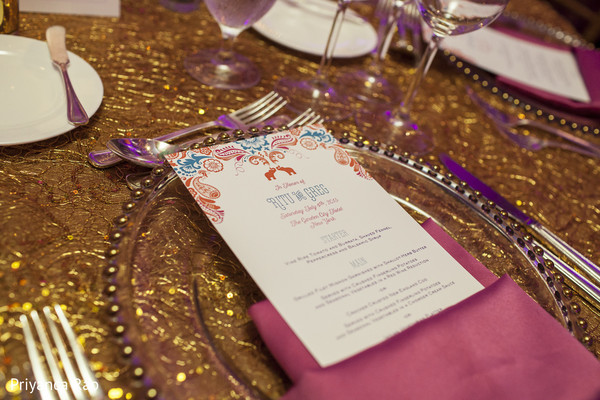 Menu in Long Island, NY Indian Fusion Wedding by Priyanca Rao Photography