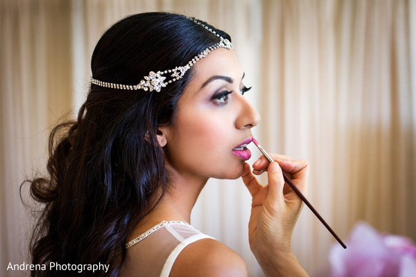 Getting Ready in Marina del Rey, CA Indian Wedding by Andrena Photography