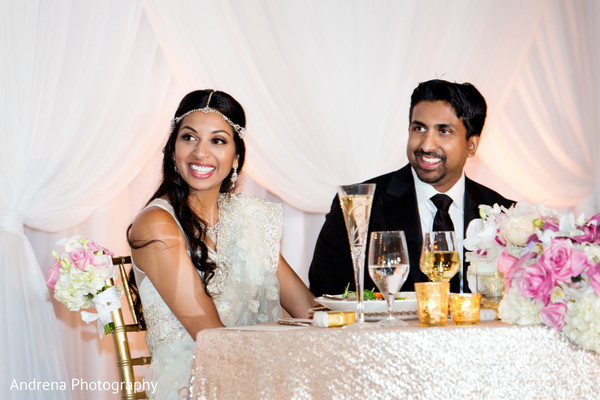 Reception in Marina del Rey, CA Indian Wedding by Andrena Photography