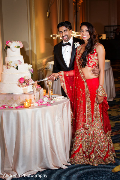 indian wedding reception,reception,reception fashion,lengha,suit,cake,wedding cake,cake cutting