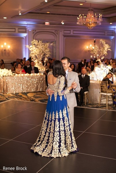 Reception in Atlanta, GA Indian Wedding by Renee Brock