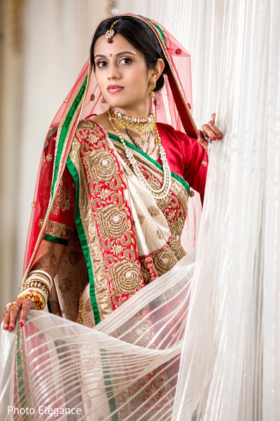 first look,first look portraits,bridal fashion,sari,gold bridal set,hair and makeup