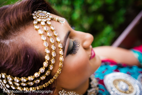 Makeup & Headpiece in Atlanta, GA South Asian Wedding by  This Modern Love Photography