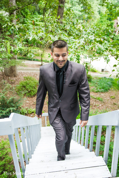 Groom Portrait in Atlanta, GA South Asian Wedding by  This Modern Love Photography