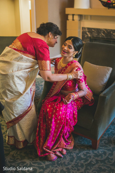 Getting Ready in Basking Ridge, NJ Indian Fusion Wedding by Studio Saldana