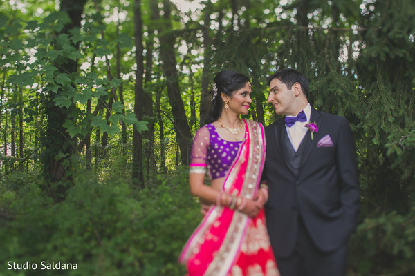 Portraits in Basking Ridge, NJ Indian Fusion Wedding by Studio Saldana