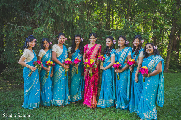 portraits,bridal fashion,sari,bridal bouquet,first look,first look portraits,outdoor portraits,saris,sarees,bridal party