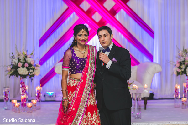 Reception in Basking Ridge, NJ Indian Fusion Wedding by Studio Saldana