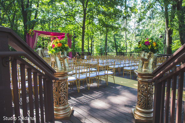 indian wedding ceremony,indian ceremony,indian wedding,outdoor ceremony,venue,ceremony venue,chairs