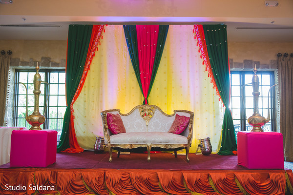 sangeet,pre-wedding celebrations,sweetheart stage,floral and decor,stage,pre-wedding floral and decor