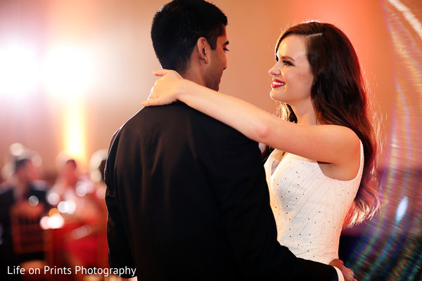 indian fusion wedding,indian fusion wedding reception,indian bride and groom first dance