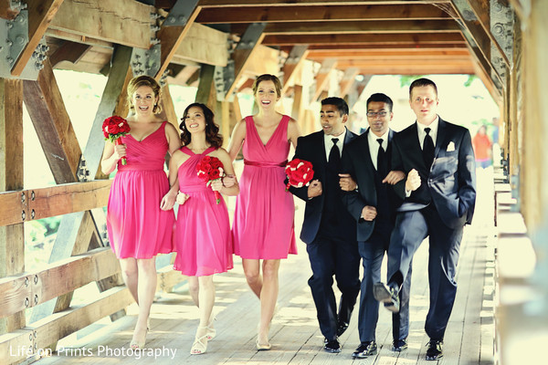 indian bridesmaids,indian groomsmen,suit and tie,indian wedding bouquet,indian wedding portraits