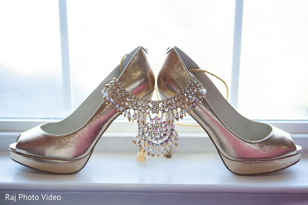 Shoes & Necklace in Burlington, NJ Sikh Wedding by Raj Photo Video
