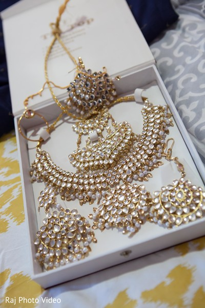 Jewelry Set in Burlington, NJ Sikh Wedding by Raj Photo Video