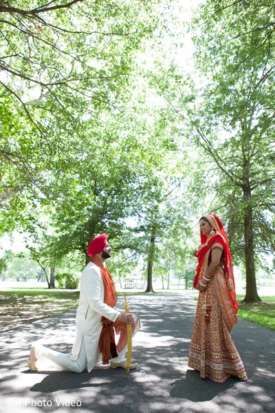 Wedding Portrait in Burlington, NJ Sikh Wedding by Raj Photo Video