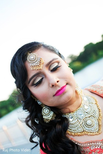 Hair & Makeup in Burlington, NJ Sikh Wedding by Raj Photo Video
