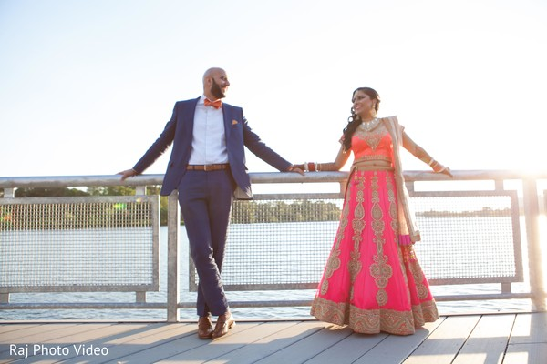 Reception Portrait in Burlington, NJ Sikh Wedding by Raj Photo Video