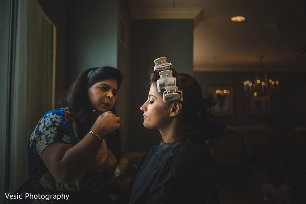Getting Ready in Greensboro, NC Indian Wedding by Vesic Photography