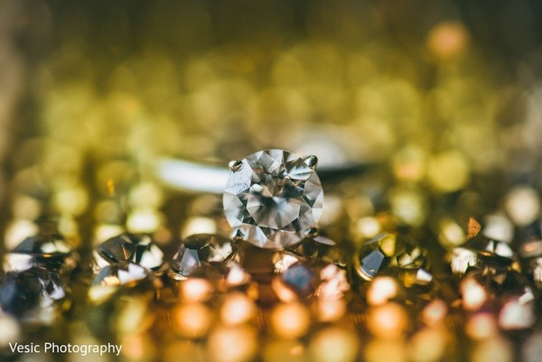 Diamond Ring in Greensboro, NC Indian Wedding by Vesic Photography