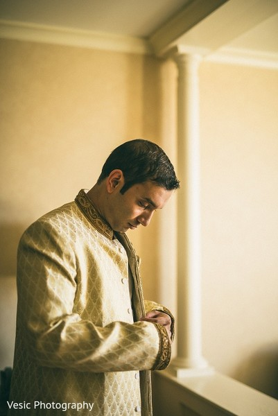 Groom Getting Ready in Greensboro, NC Indian Wedding by Vesic Photography