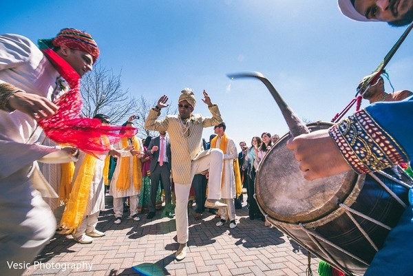 Baraat in Greensboro, NC Indian Wedding by Vesic Photography