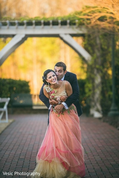 Reception Portrait in Greensboro, NC Indian Wedding by Vesic Photography