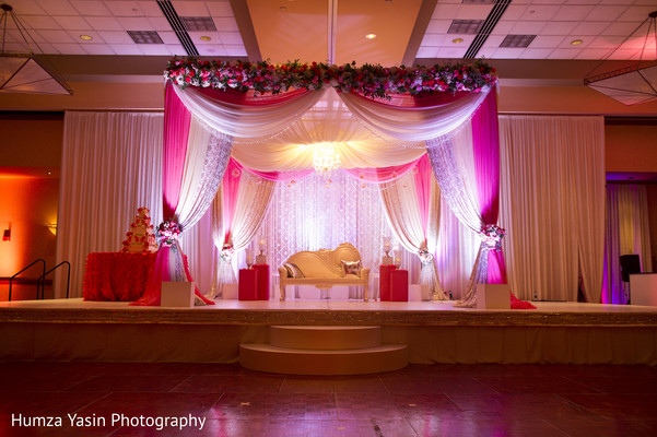 indian wedding reception,reception,indian reception,reception decor,sweetheart stage,floral and decor