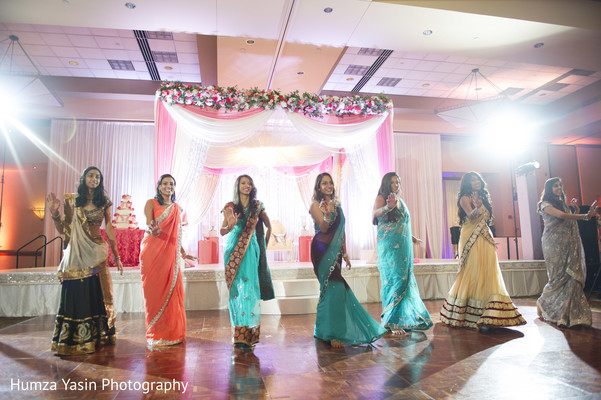 indian wedding reception,performers