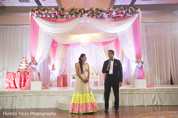 indian wedding reception,reception,indian reception,reception decor,reception fashion,sweetheart stage,floral and decor,lengha,suit