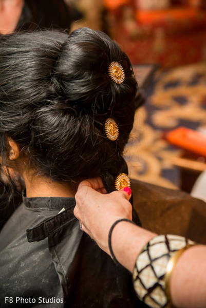 Getting Ready in Durham, NC Indian Fusion Wedding by F8 Photo Studios