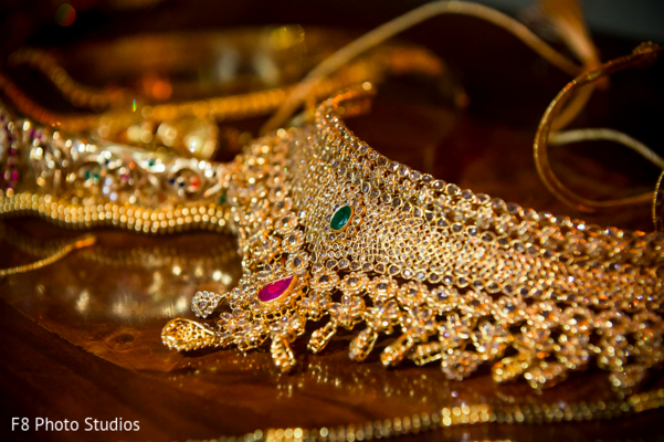 Bridal Jewelry in Durham, NC Indian Fusion Wedding by F8 Photo Studios