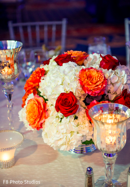 Floral & Decor in Durham, NC Indian Fusion Wedding by F8 Photo Studios