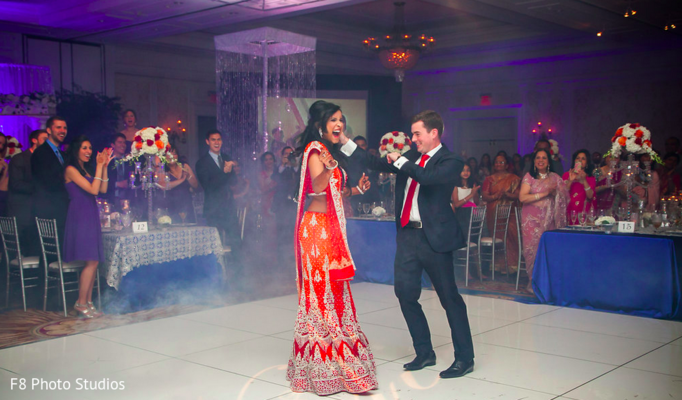 Reception in Durham, NC Indian Fusion Wedding by F8 Photo Studios