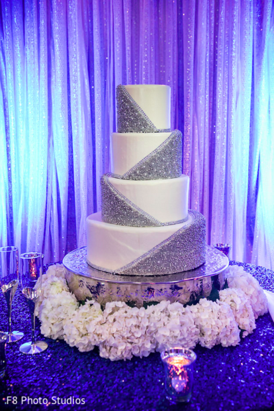 Wedding Cake in Durham, NC Indian Fusion Wedding by F8 Photo Studios