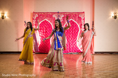 The sangeet celebration is under way!
