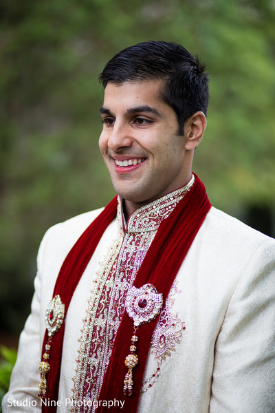 First Look in Milford, MA Indian Wedding by Studio Nine Photography