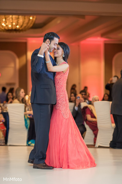 indian wedding reception,indian fusion wedding reception,indian bride and groom first dance,indian wedding gowns,suit and tie